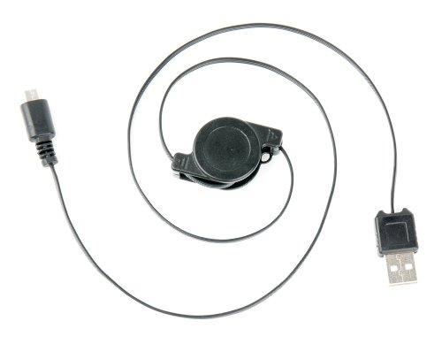DURAGADGET Micro USB Retractable Data Transfer Sync Cable For Lenovo S400 Touch  Lenovo S400  Lenovo S410p