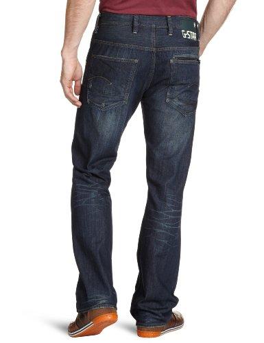 G-STAR Herren Attacc Straight Jeans Blau (dk aged 4268-89)