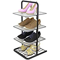 Uus Square Corner Shoe Rack, Simple Hall Narrow Shoe Rack Multi-Level y Storage Rack Multifunción Flower Stand 4-7 Layer (Tamaño : 4 Tier)