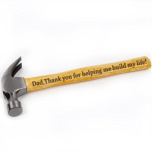 Gravur Hammer für Dad Thank You For Helping Me Bj My Life Väter Tag Hammer Geschenke