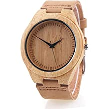 Reloj de Madera de Bambú para Mujer, Yowao Cuarzo Japonés y con la Correa de