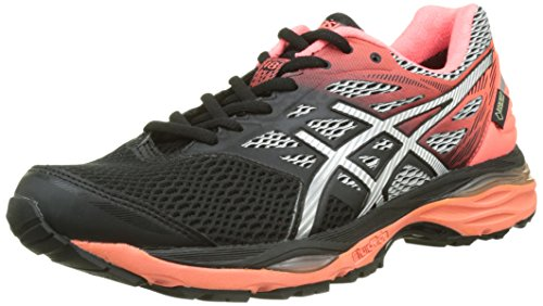 asics-womens-cumulus-18-g-tx-training-shoes-black-black-silver-flash-coral-9-uk