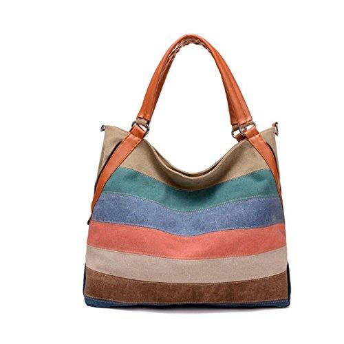 JSCY, Borsa a spalla donna multicolore Multi-Color-B Multi-Color-C