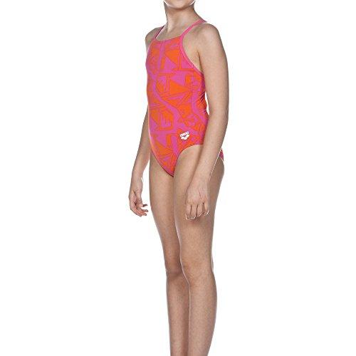 r Junior Badeanzug, Fresia Rose/Mango, 128 (Mango Kostüm Für Kinder)