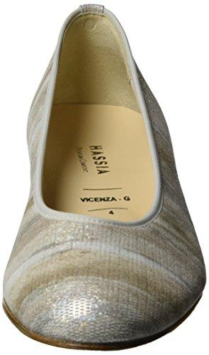 Hassia Vicenza, Scarpe con Tacco Bianco (Perlweiß)