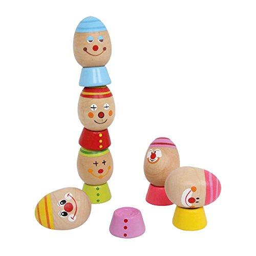 Small-Foot-by-Legler-Stapelei-aus-Hartholz-lustig-bunte-Eier-werden-bereinander-gestapelt-ein-tolles-Geschicklichkeitsspiel-schult-die-Feinmotorik-Spielspa-fr-Kinder-ab-2-Jahren