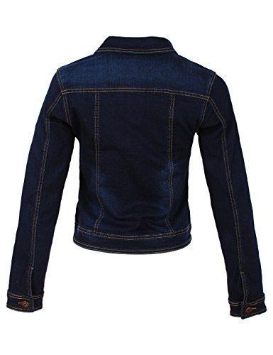 Fraternel Damen Jacke Jeansjacke Denim Jacket talliert Stretch Dunkelblau S / 36 - 3