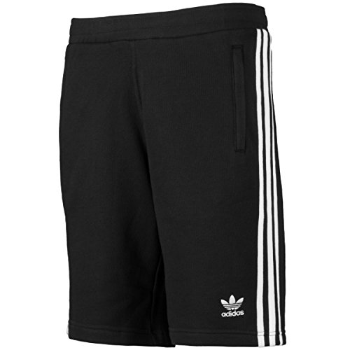 adidas Herren Classic 3-Stripes Shorts, Black, 2XL (Terry Shorts Gerippte)