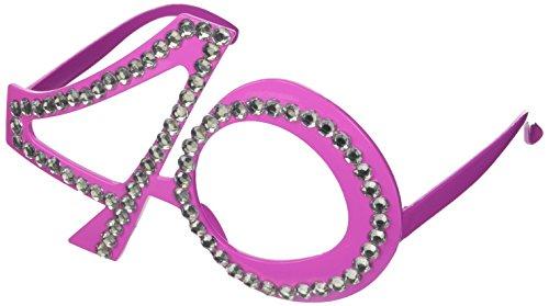 Folat Partybrille zum 40. Geburtstag in pink