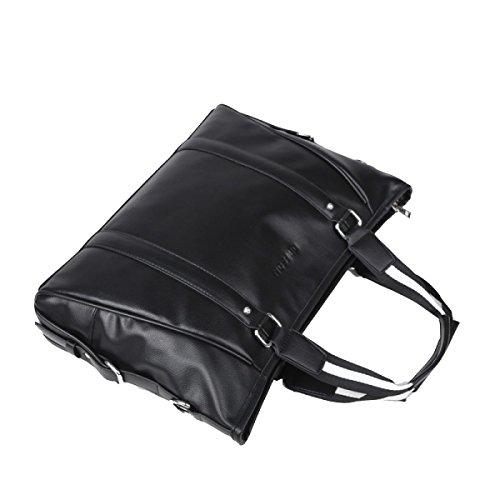Yy.f 14-Zoll-Herren-Laptop Tasche Mode Reisetaschen Reisetaschen Schulterdiagonalpaket Solides Paket Black