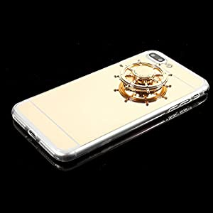 Mirror Protective Phone Case Back Cases Hard Thin Cover with Hand Fidget Spinner