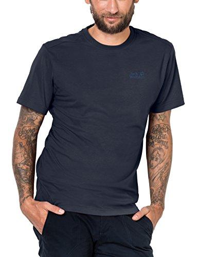 dd85a474e91 Jack Wolfskin Men's Essential T-Shirt, Night Blue, Large - Buy ...