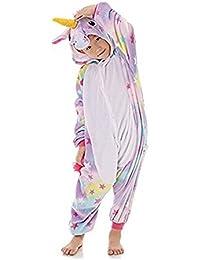 Rainbow Fox Niños Unicornio Pijama Monos Dibujos Animados Animal Disfraz Cosplay Ropa por Niños