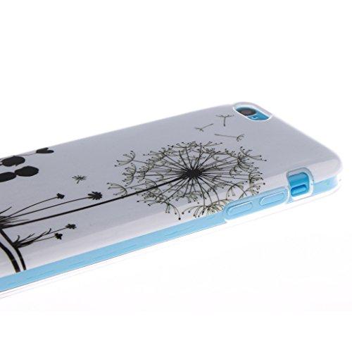 "SsHhUu iPhone 5c Coque, Personality Animal Ultra Slim Doux TPU Flexible Durable Gel Silicone Protecteur Rear Skin Painting Art Étui Housse Case Cover Pour Apple iPhone 5c 4.0"" Happy Lovers"