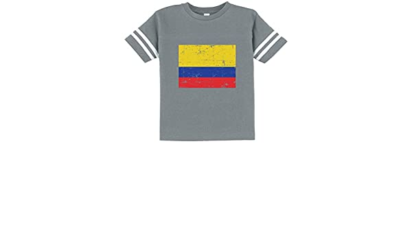 c42f177a348 TeeStars - Colombia Flag Vintage Style Retro Colombian Toddler Jersey T- Shirt - Gray -  Amazon.co.uk  Clothing