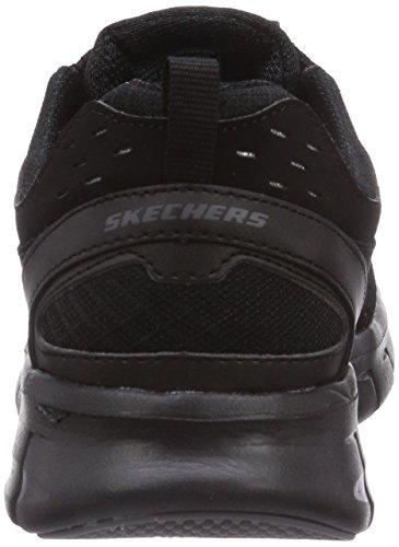 Skechers SynergyFront Row Damen Sneakers Schwarz (Bbk)