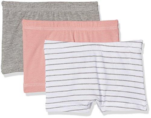 NAME IT Baby-Mädchen Höschen Nmftights 3P Grey Mel Noos, 3er Pack, Mehrfarbig (Grey Melange), 104 (Kleine Mädchen Unterwäsche Hipster)