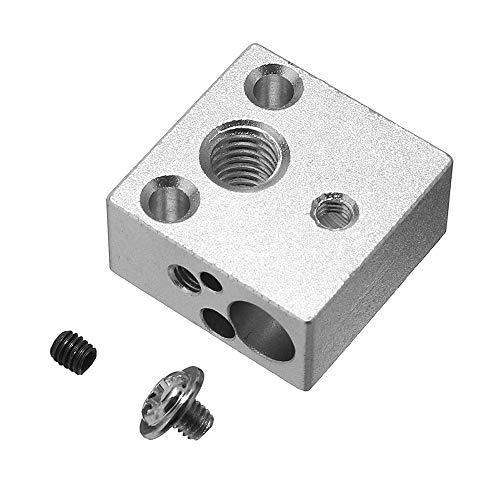 Desconocido Generic 20 * 20 * 10mm All-Metal J-Head Hotend Heating Block For V6 Creality 3D Printer Bowden Extruder