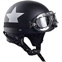 MJW Harley Casco Príncipe Casco Casco Motocicleta Hombres Y Mujeres Pareja Casco Sombrero Cuello Zhan Ayudar