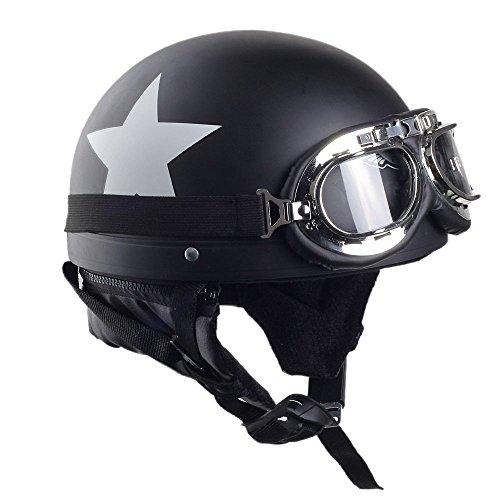 BEESCLOVER - Casco Seguridad Unisex Motocicleta, Visera