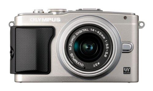 """Olympus PEN E-PL5 - Cámara EVIL de 17.2 Mp (pantalla 3"""", estabilizador óptico, vídeo Full HD) plateado -Objetivo II R 14-42mm f/3.5"""