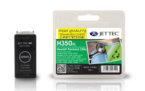 Preisvergleich Produktbild Jet Tec CB336EE HP HP350XL CB336 In England hergestellte Wiederaufbereitete Tintenpatrone, schwarz High capacity
