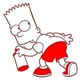 Bart Simpson Graffiti Spraydose 15cm Aufkleber ohne Hintergrund von SUPERSTICKI® aus Hochleistungsfolie für alle glatten Flächen UV und Waschanlagenfest Tuning Profi Qualität Auto KFZ Scheibe Lack Profi-Qualität