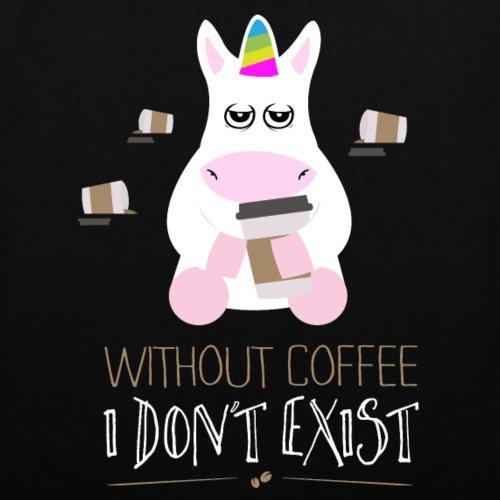 Spreadshirt Müdes Einhorn Without Coffee Don't Exist Stoffbeutel Schwarz