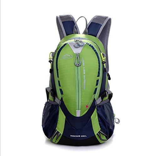 BM Borse da viaggio impermeabile Escursionismo Outdoor Pack per uomini e donne equitazione zaino 25L zaino , red Green