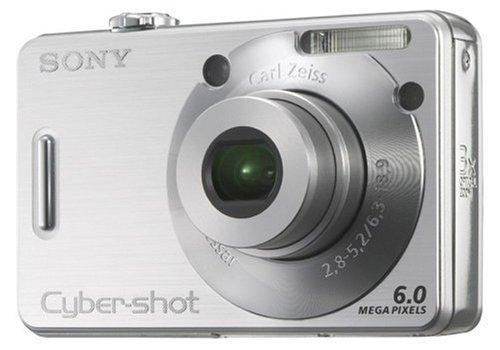 Sony Cyber-Shot DSC-W50 Digitalkamera (6 Megapixel) Silber Sony Ccd-serie