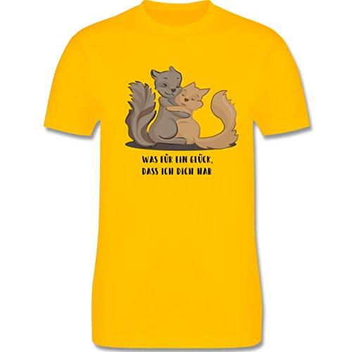 Sonstige Tiere - Beste Freunde - Herren Premium T-Shirt Gelb