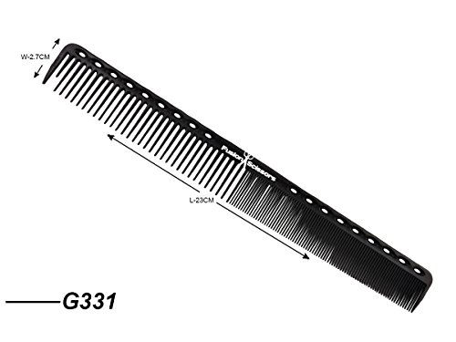 Friseur Salon Extra lange Schneidkamm weiß professionelle Verwendung G331 Hairdresser Salon Extra Long Cutting Comb White Professional Use G331 -