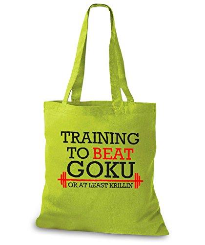 StyloBags Jutebeutel / Tasche Training to beat Goku or at least Krillin Kiwi