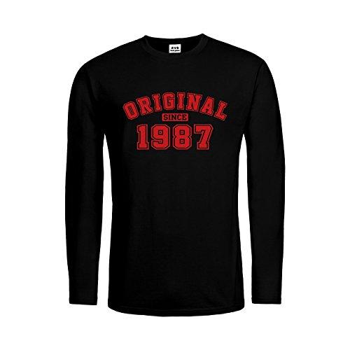 dress-puntos Herren Langarm T-Shirt Original Since 1987 20drpt15-mtls01284-18 -