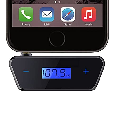 Mpow FM Transmitter, [Upgraded Version] Unleash Trapezoid 3.5 mm Car Kit FM Transmitter Radio Adapter for iPhone 6 6s 6plus, iPhone 5s 5 Samsung Galaxy S8 S7 S7 Edge S6, Huawei, iPad, MP3 player and other