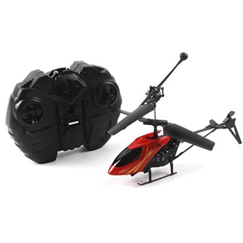 Malloom RC 901 2CH Mini helicóptero Radio Control remoto aviones Micro 2 canales, Rojo
