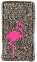 Handyhülle aus Filz mit pinkem Flamingo, passend für iPhone 6, 6s, 7 und 8