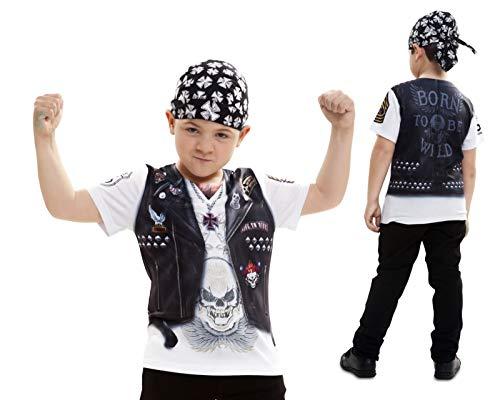 Disfraz Camiseta de Motero Original de Carnaval para niño de 4-6 años de Microfibra - LOLAhome