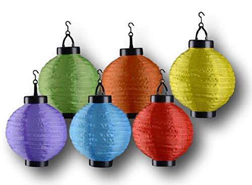 Festa in giardino solare led luci della lanterna 6 lampade colorate