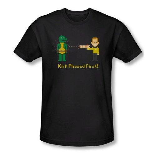 Star Trek - Herren Kirk Erste T-Shirt in schwarz Phased Black