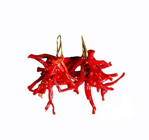 Orecchini in Corallo rosso