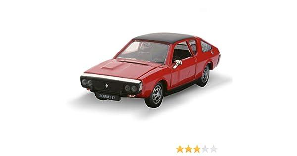 Renault Norev 17 mod/èle TS 1971-1//43/ème Rouge avec Toit Noir 3 Portes