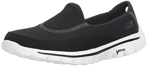 Skechers Damen GO Walk 2 Linear Sneakers Schwarz (BKW) 39 EU