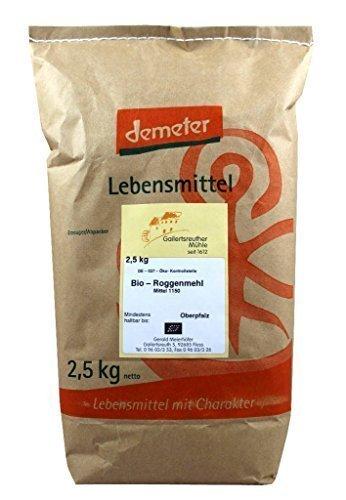 Bio-Roggenmehl mittel 3x2,5 kg - Demeter Bio Roggenmehl Type 1150