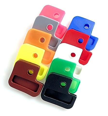 Van Den Heuvel–Cylinder Key Cap Square (1Pack of 10, Pack of 100) Multi Openings,