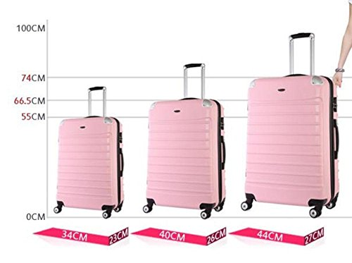 Xiuxiandianju 20 pollici 24 pollici 28 pollici ruota universale leva ABS angolo impermeabile retro valigia viaggio bagaglio di viaggio (una valigia dimensioni & colore diverso) Khaki