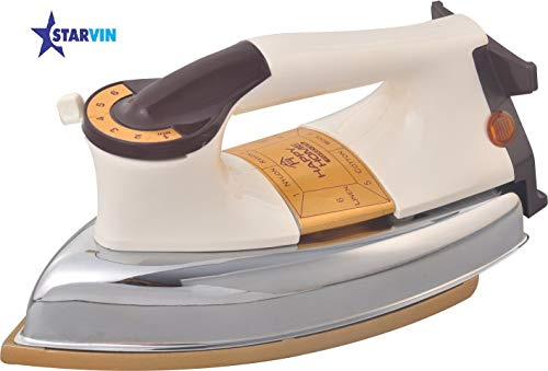 Starvin Happy Home Automatic Heavy Weight Electric Iron || 1000 W || Heritage Design || Powerful Element || 1 Year Warranty || ISI Approved || Model – Royal Plancha || Y-685