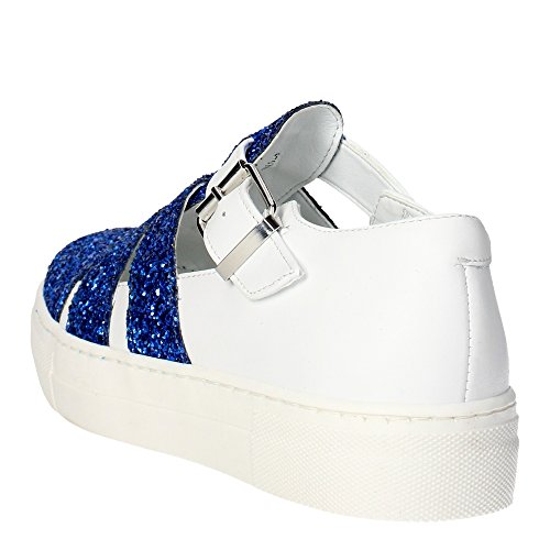 Cult CLJ101577 Sandale Fille Blanc/Bleu