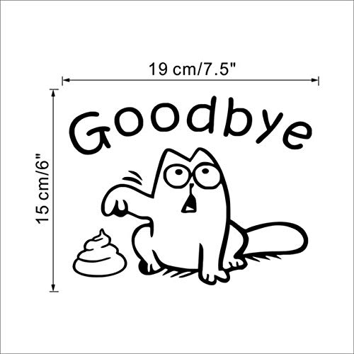 Lustige Schwarze Katze Toilettensitz Wandaufkleber Bad Auto Fenster Dekoration Cartoon Tier Verabschieden Applikation Vinyl Wandbild Kunst A
