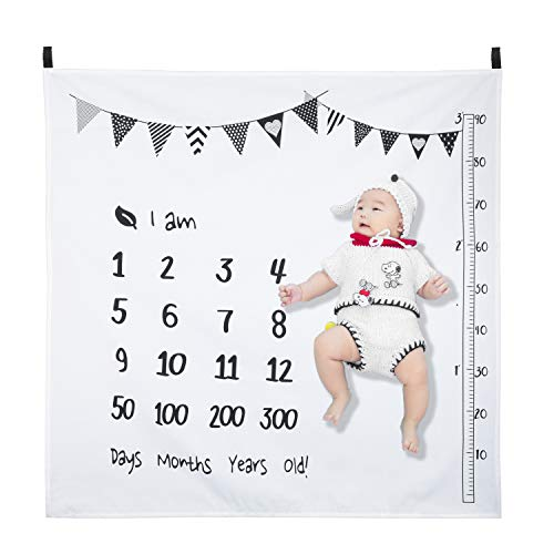 Hifot Baby Monatlich Meilenstein Decke Neugeborenes Fotografie Hintergrund Stütze Prop Junge Mädchen Wachstum Hintergrund Foto Mats
